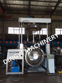 High Viscosity Cream Vacuum Homogenizer Mixer Steam Heating 15KW Emulsifying Motor