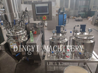 Stainless Steel Cosmetic Cream Manufacturing Equipment With Pre Mixing Tank